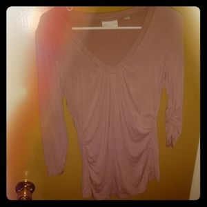 New york and company stretch v neck blouse
